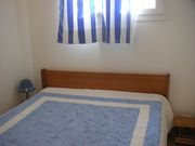 La chambre avec son lit en 140cm